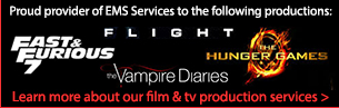 Pro Care is proud to have provided the Hunger Games, Flight, Vampire Diaries, and Fast & Furious 7 with EMS Services